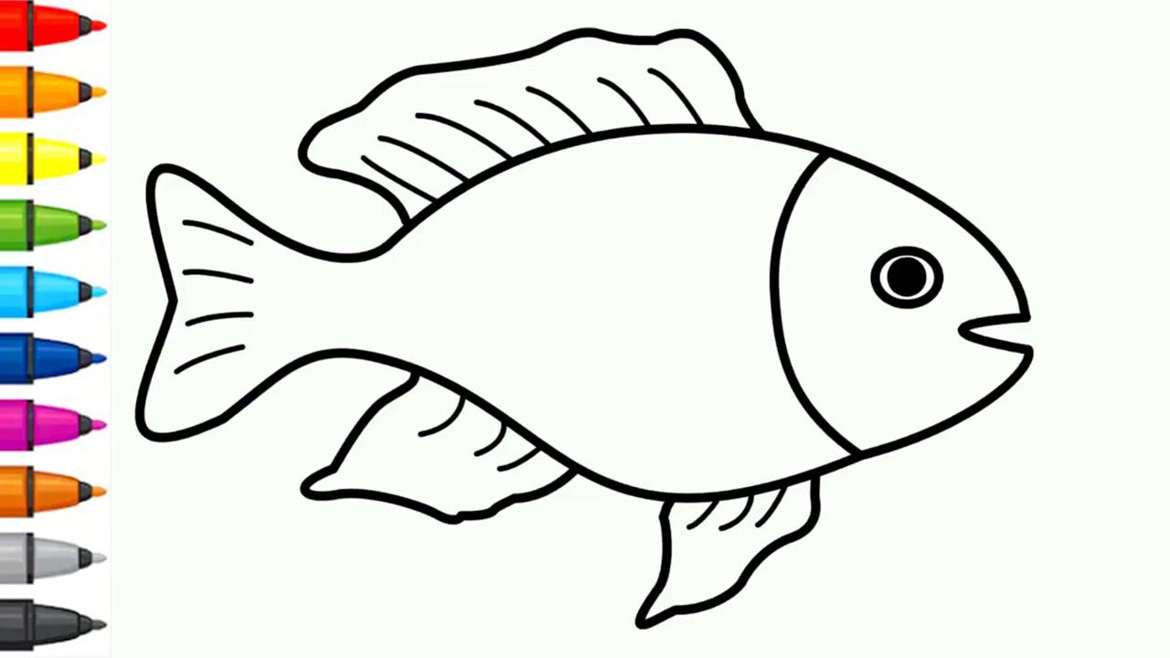 سمكة للتلوين للاطفال