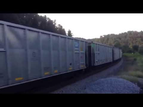 For Farnsley Middle School, Csx Coal Train flies by me at West Van Lear, Ky