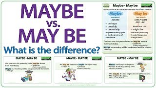 Maybe vs. May be - What is the difference?