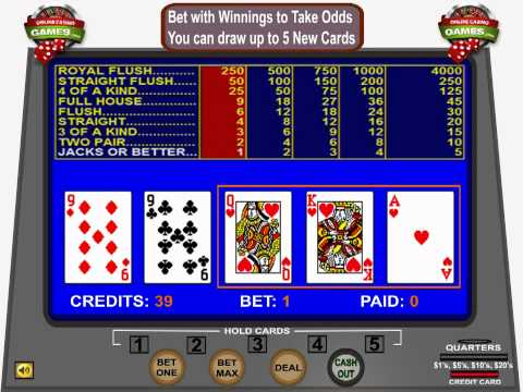 How To Play Video Poker By OnlineCasinoGames.com