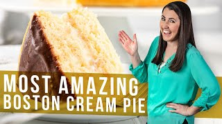 How to Make The Most Amazing Boston Cream Pie | The Stay At Home Chef