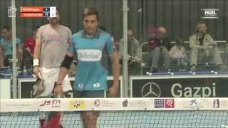 Partido entre Corretja y Lima contra Belasteguín y Bruguera, en el II Torneo Solidario de Pádel ANA