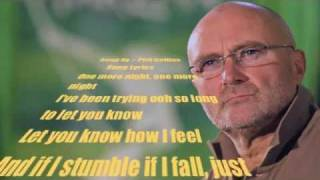 Phil collins - One more night with full Lyrics