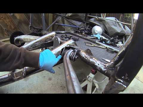 VW Bug Swingaxle to IRS Conversion with Bus 3 rib Transmission Sandrail Buggy Jig