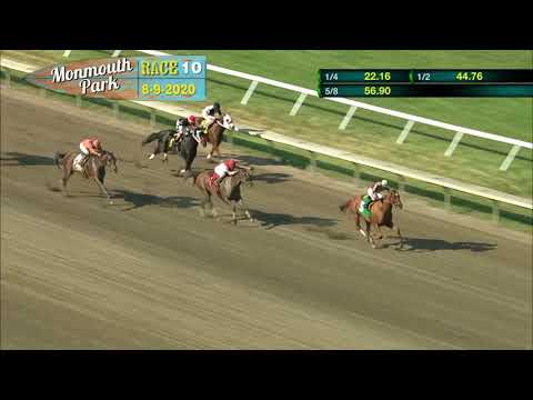 video thumbnail for MONMOUTH PARK 08-09-20 RACE 10