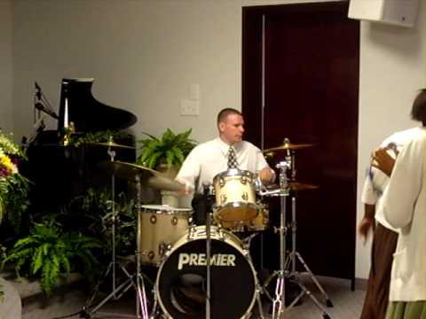 Matthew Locklear playing Drums