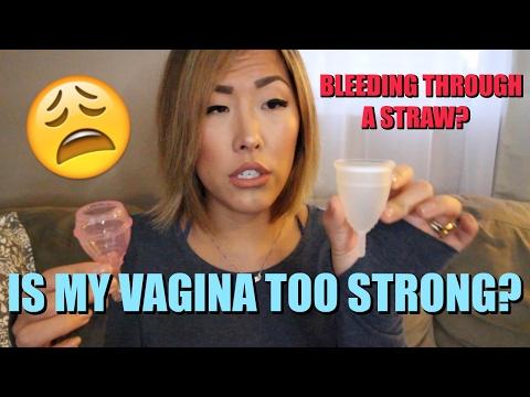 I TRIED AIWO MENSTRUAL CUPS *WARNING REAL BLOOD* | ITSJUSTKELLI