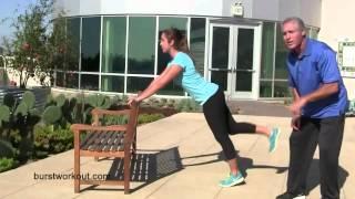 Burst Chair Plank
