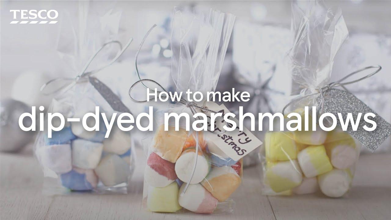 How to Make Dip Dye Marshmallows | Tesco Food - YouTube
