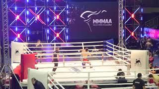 61,2 kg: Gadzhimurad Zavaev (Russia) vs. Nanyan Zhang (China). 2017 World MMA Championships