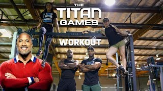 Titans Games Fitness Workout With The Rock Chosen Athletes   NBC Show