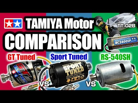 (OFF ROAD ver.) TAMIYA Brushed Motor Comparison(GT Tuned, Sport Tuned, RS-540SH Motor) by TT-02B