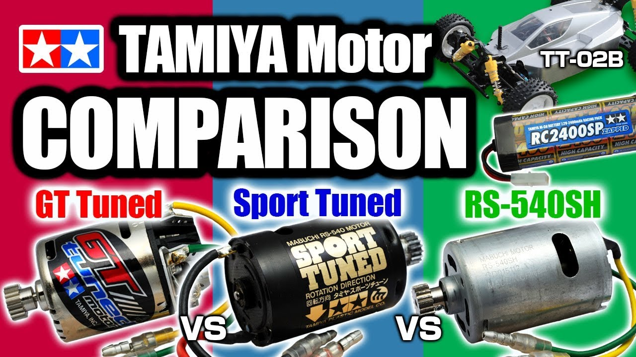 Off Road Ver Tamiya Brushed Motor Comparison Gt Tuned