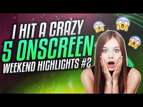 I HIT A CRAZY 5 ON W/REACTION!! (Weekend Highlights #2)
