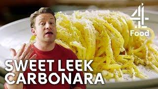 Sweet Leek Carbonara | Jamie's Meat-Free Meals