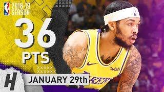 Brandon Ingram Full Highlights Lakers vs 76ers 2019.01.29 - 36 Points, 5 Reb, 5 Ast