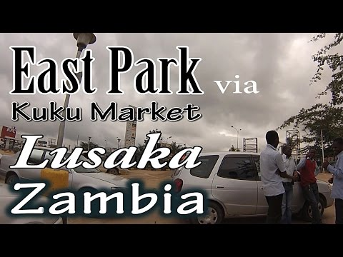 East Park via Kuku Market - Dash Cam in a Taxi - Lusaka Zambia - zam1news.com