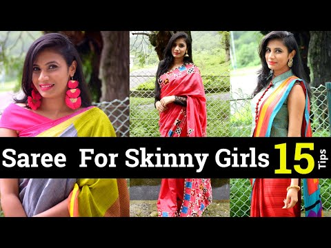 styling-saree-/-blouse-for-tall-&thin-girl-|-skinny-girl-sari-tips-|-aanchal
