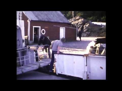 MS Halsnøy i rute Os - Herøysund 1980. Digitaliserte opptak