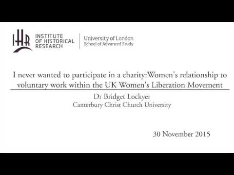 Women's relationship to voluntary work within the UK Women's Liberation Movement