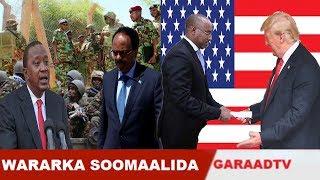Warar Deg Deg Ah Ciidamo La Soo Dhoobay Xaduudka Kenya & Somalia, Safiirka Cusub Ee USA