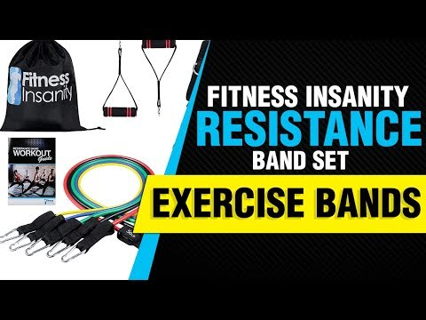 Fitness Insanity Resistance Band Set Bands with Waterproof Carrying Case  Review 2018