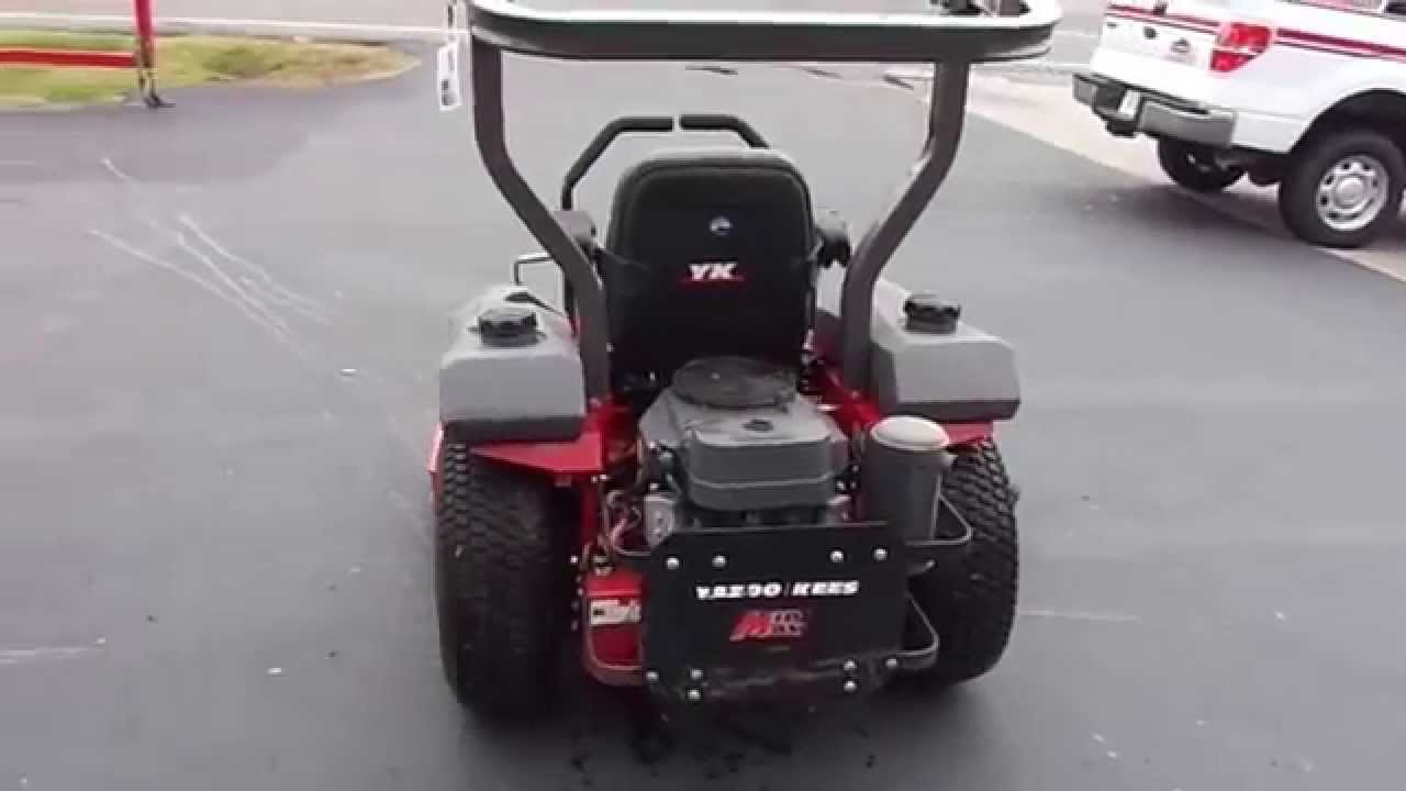 48 U0026quot  Yazoo Kees Zero Turn Lawn Mower With 19 Hp Kawasaki