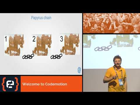 Gabriele Marazzi - Self Sovereign Identity and Blockchain - Codemotion Milan 2017