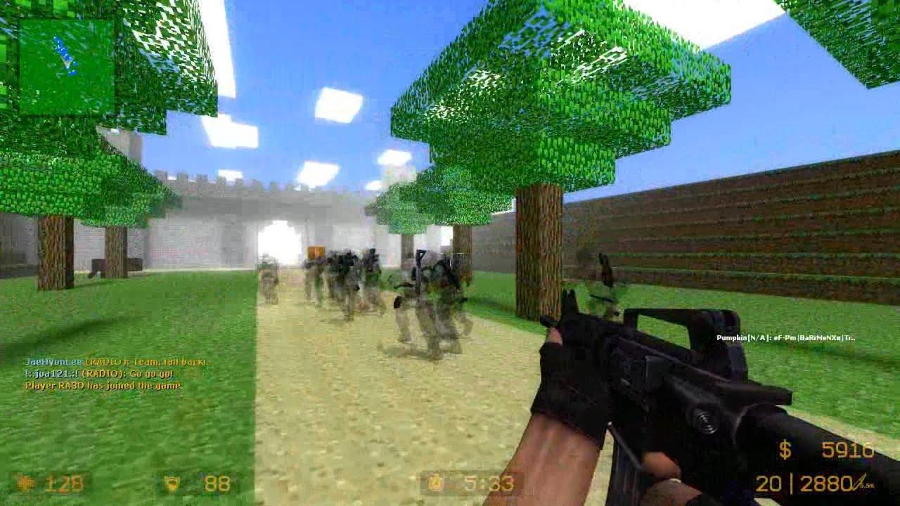 counter strike source  zombie escape mod multiplayer gameplay  - counter strike source  zombie escape mod multiplayer gameplay walkthroughon minecraft map  youtube