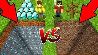 ZENGİN ÇUKURU VS FAKİR ÇUKURU! 😱 - Minecraft