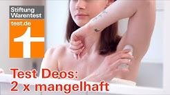 Deo-Test 2019 Stiftung Warentest - So testen wir Deos & Antitranspirantien - Roller, Sticks & Cremes