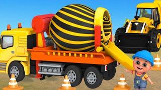 Excavator, Dump truck, Cement mixer truck, Road roller \u0026 Construction vehicles toys