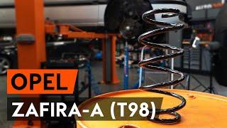 Come sostituire molle di sospensione anteriore su OPEL ZAFIRA-A 1 (T98) [VIDEO TUTORIAL DI AUTODOC]