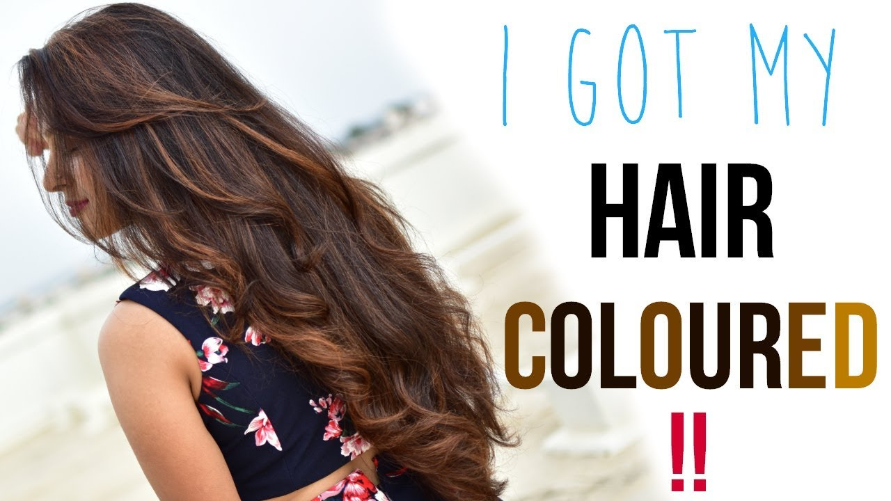 1st Time Hair Colouring Experience Hair Color Suitable For Indian Skin Naturals Salon Megvlogs