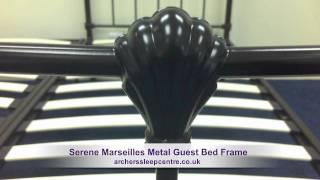 Serene Marseilles Metal Guest Bed Frame