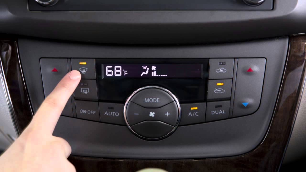 2015 Nissan Sentra Climate Controls Youtube