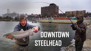 Urban Steelhead Fishing Downtown - Cold Winter Chrome