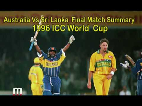 1996 ICC World Cup  Final Match Full Summary   Aus VS SL