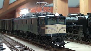 OJゲージ鉄道模型EF58貨物列車