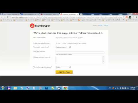How to add links to Stumbleupon