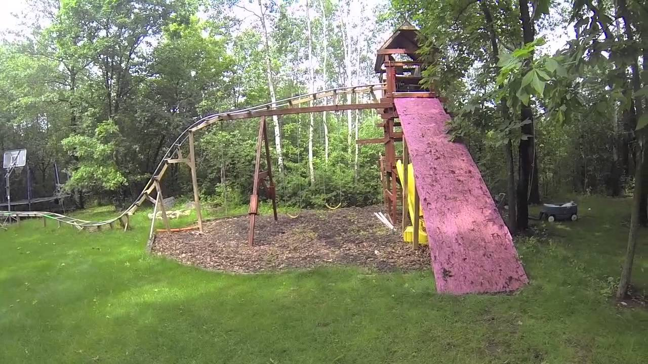 Backyard Roller Coaster Update 5 - YouTube
