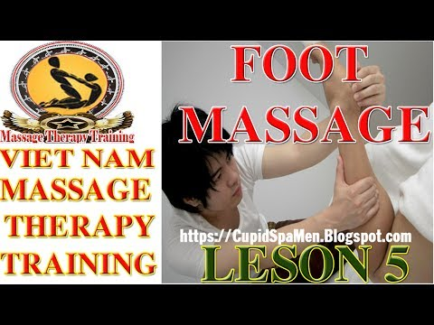 Massage Therapy | Vietnam Therapy Training | Cupid Spa | Basic Foot Massage | Part 05