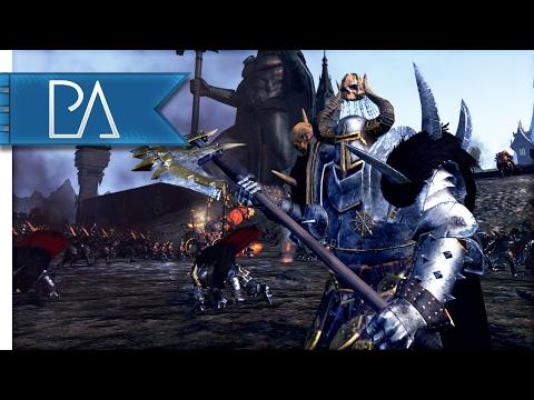 Epic Siege battle: Custom Settlement Map - Total War: Warhammer Gameplay