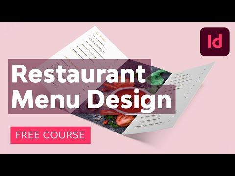 Restaurant Menu Design in Adobe InDesign   FREE COURSE