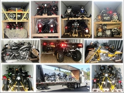 Motorcycle International Shipping   Loading in Containers