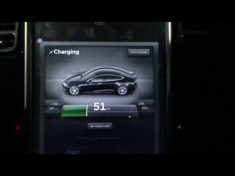 Tesla Motors Model S / X: Supercharging a 60kW Battery from Dead, 105kW Charging Rate!!!