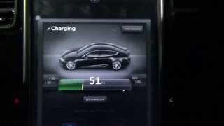 Tesla Motors Model S / X: Supercharging a 60kW Battery from Dead, 105kW Charging Rate!!!
