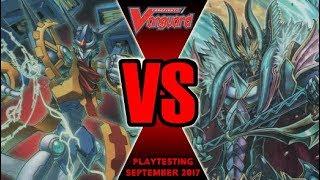 Raging Form Vs Zodiac Time Beast - Cardfight Vanguard Playtesting September 2017
