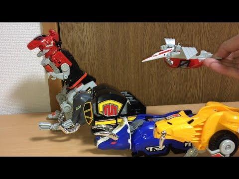 【戦隊1号ロボ再現】戦隊16 恐竜戦隊ジュウレンジャー DX大獣神に合体!前田動画 Kyoryu Sentai Zyuranger Mighty Morphin Power Rangers