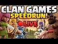 """CLAN GAMES SPEEDRUN! How Fast Can We Beat Clan Games in """"Clash of Clans"""" LIVE [2018]"""
